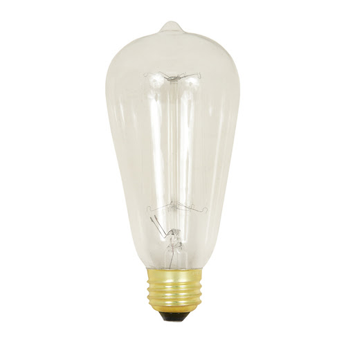 Zoomed: Feit Electric Feit 60 Watt ST19 Vintage Bulb