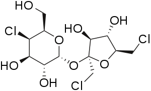 2D structure of artificial sweetener sucralose