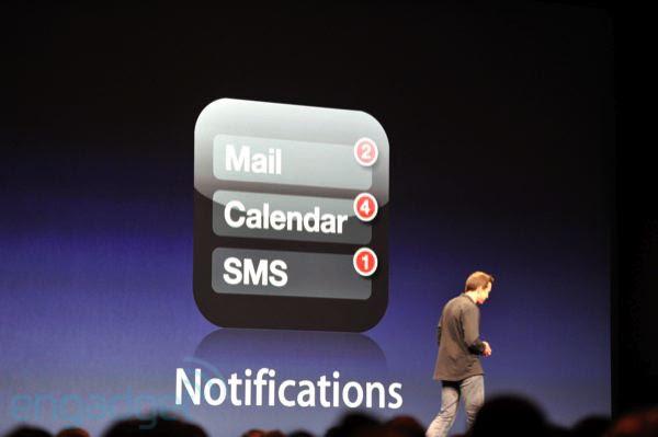 Novo sistema de notificações (Foto: Reprodução: Engadget)