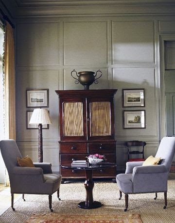 Mouse's Back by Farrow & Ball Living Room