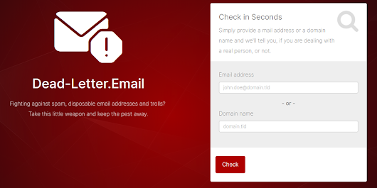 Dead Letter Email - Detect disposable email addresses | Product Hunt
