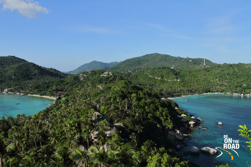 Chalok Baan Kao Bay and Thian Og Bay from John Suwan Viewpoint at Koh Tao
