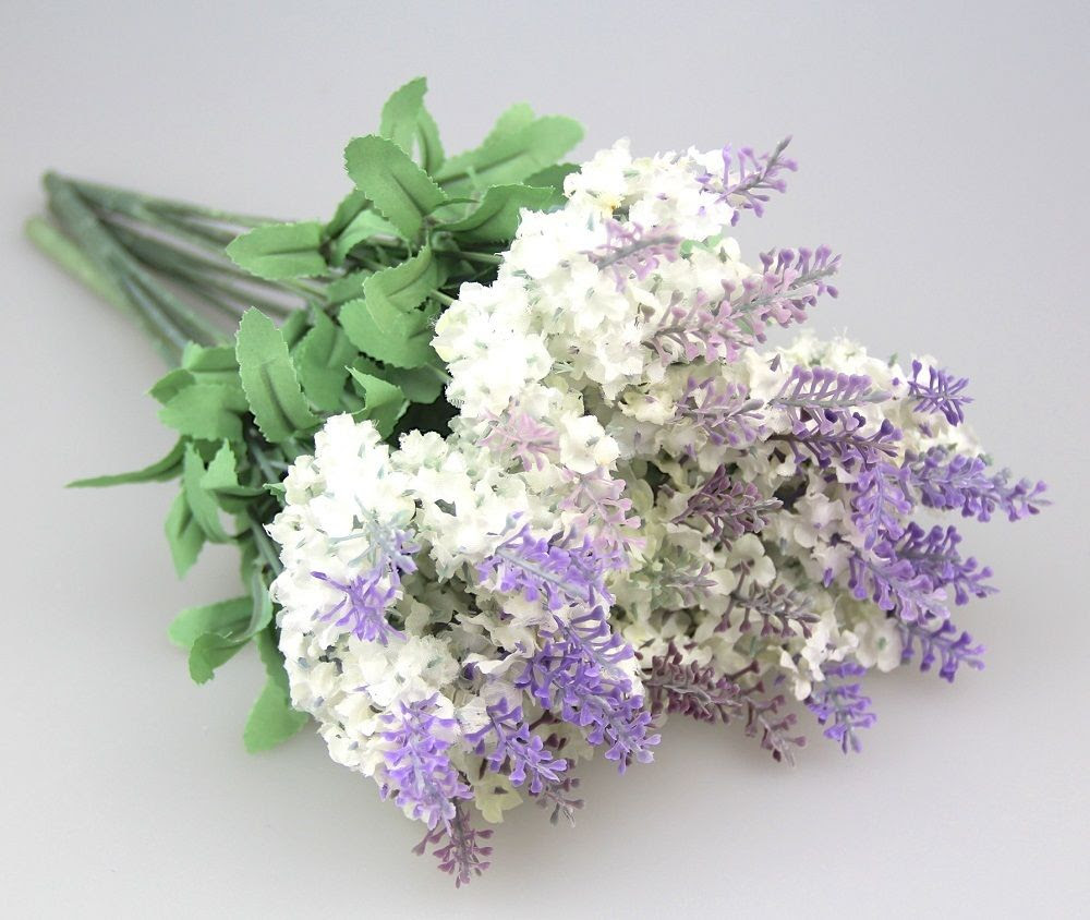Artificial Lavender Silk Flower Bouquet Home Wedding Garden Floral Decoration  eBay