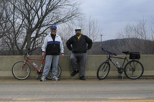 Dan and Tom on Granville Bridge