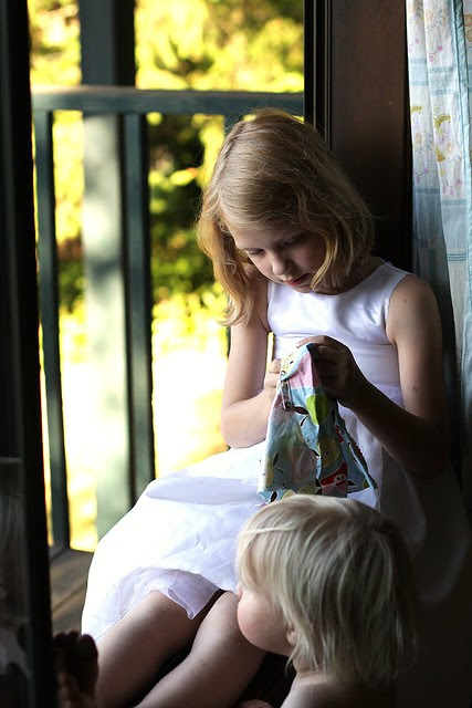 sewing in the window