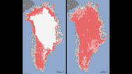Rare levels of Greenland ice melt