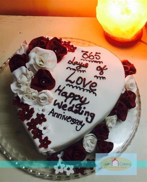 Buy 1st Wedding Anniversary Cake by PickFromShop in