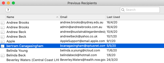 How to delete email addresses if you are using Apple Mail ...