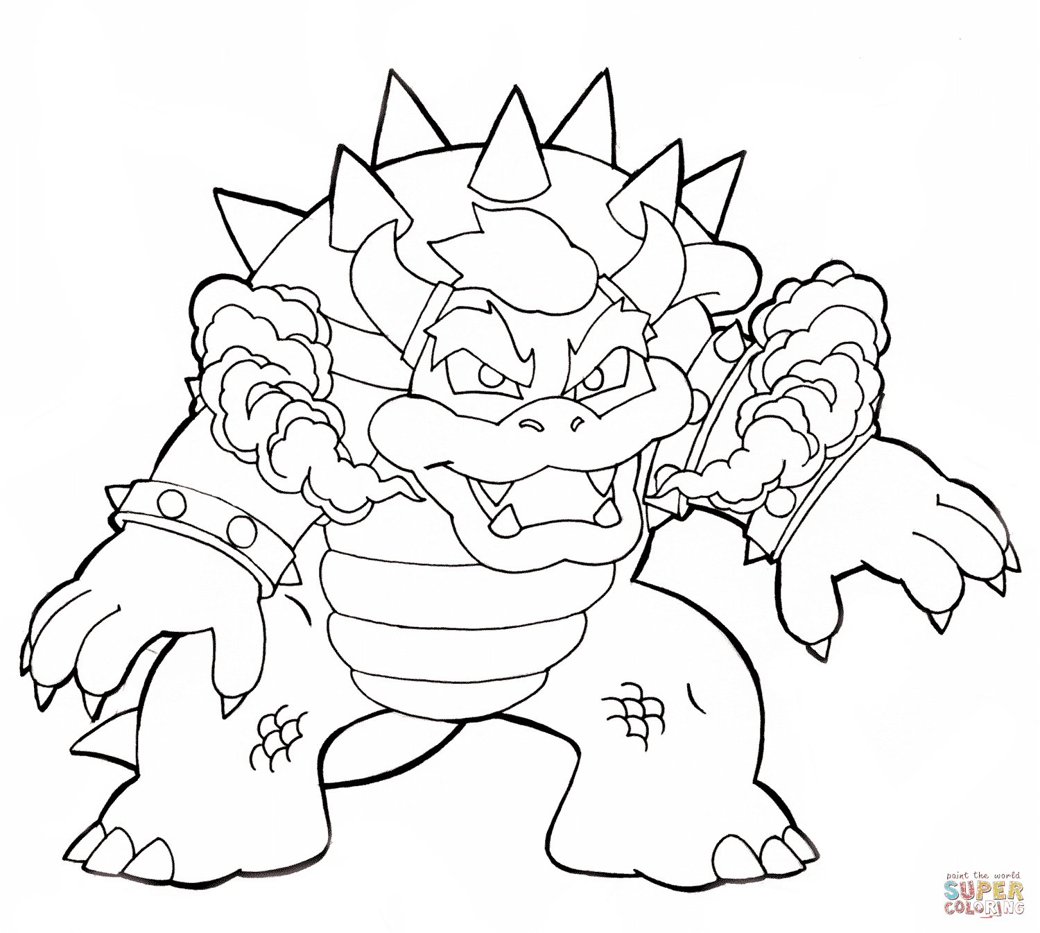 the Bowser coloring