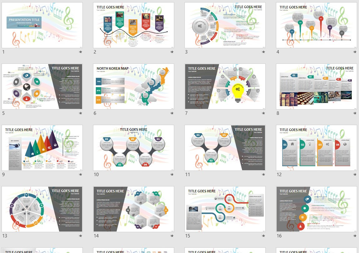 Music Notes Powerpoint Template 146752