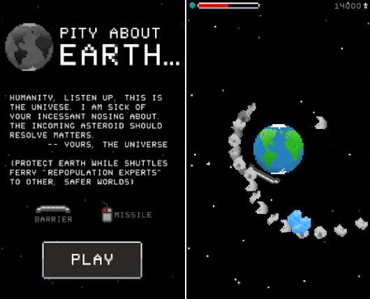 Pity About Earth... - a Scripta Game