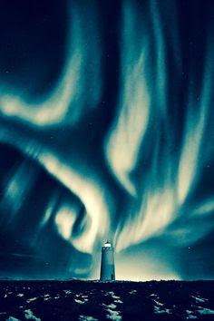 Lighthouse The Aurora Borealis | Iceland