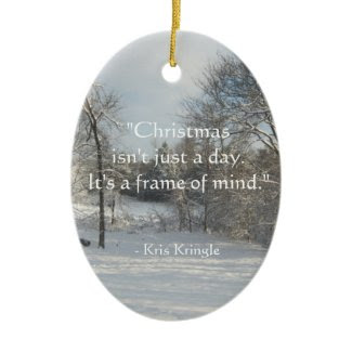 Kris Kringle Quote Personalized Keepsake Ornament
