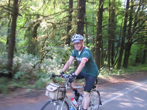 Bill, heading up the Scappoose-Vernonia climb