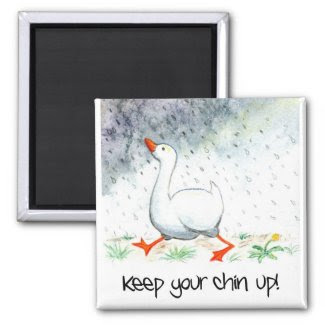 'Keep Your Chin Up!' Magnet magnet
