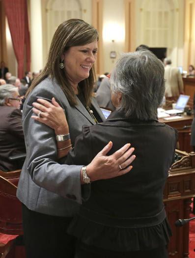 State Assemblywoman Susan Bonilla, left, and state Sen. Carol Liu