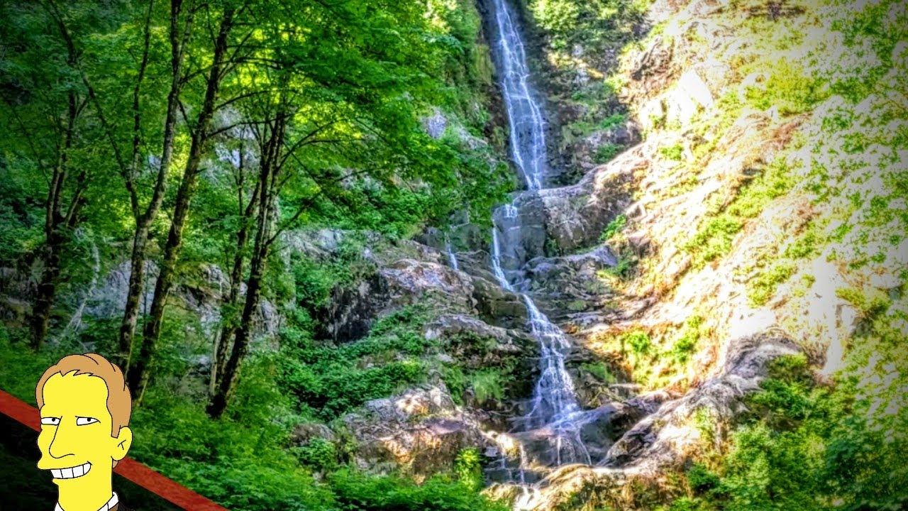 Flood Falls waterfall trickling down cliff