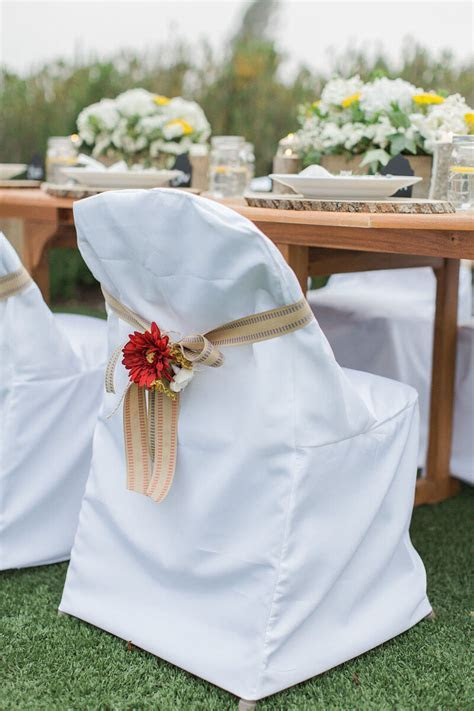 Wedding Chair Cover White Folding Chair Cover Set of 10