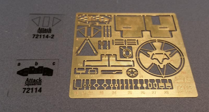 blaszki pzl p.7a photoetched parts