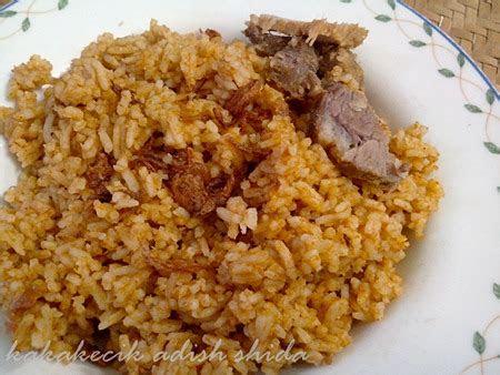 kakakecik adish shida jom memasak nasi daging chef