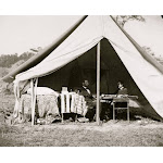 Antietam, Md. President Lincoln and Gen. George B. McClellan in the general's tent; another view Poster Print (24 x 36)