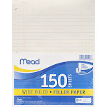 Meadwestvaco MEA15103 Notebook Paper Wide Ruled 150Ct
