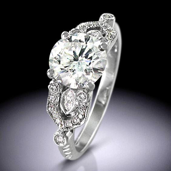 Vintage Art Deco Style Engagement Ring F L Designer Guides