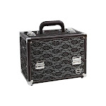 Caboodles Make Me Over 4-Tray Train Case - Black - Personal Travel Care