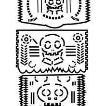 Dibujos Para Colorear Una Calavera Decorada Mexicana Para El Dia De