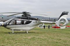 G-HOLM - 2007 build Eurocopter EC135 T2+, at the 2012 Cheltenham Festival