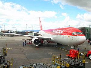 Avianca Boeing 767-200 parked at El Dorado Int...