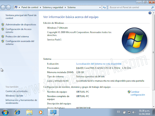 Windows 7 Ultimate SP1 x32/x64 Bits ISO Original Español