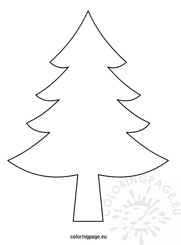 Christmas Tree Drawing Coloring Page