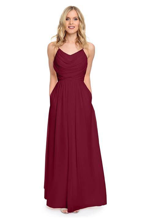 2016 Wine/Blue/Burgundy Bridesmaid Dresses Long Pleated