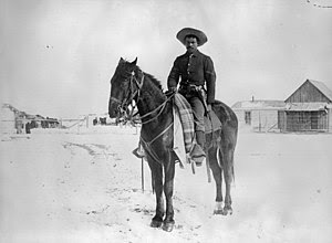 An Afro-American Corporal, in the 9th Cavalry....