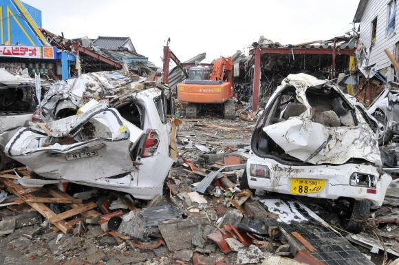 Destruction is seen in the wake of Japan's earthquake and tsunami