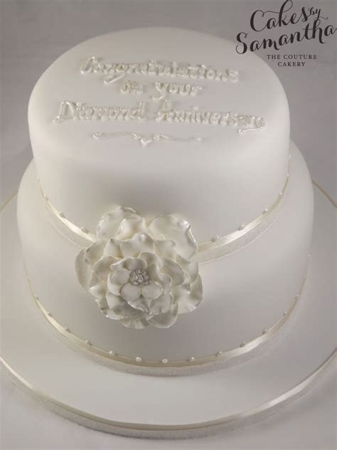 60th Wedding Anniversary Cake