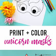DIY | Unicorn Masks to Print and Color – Scrap Booking