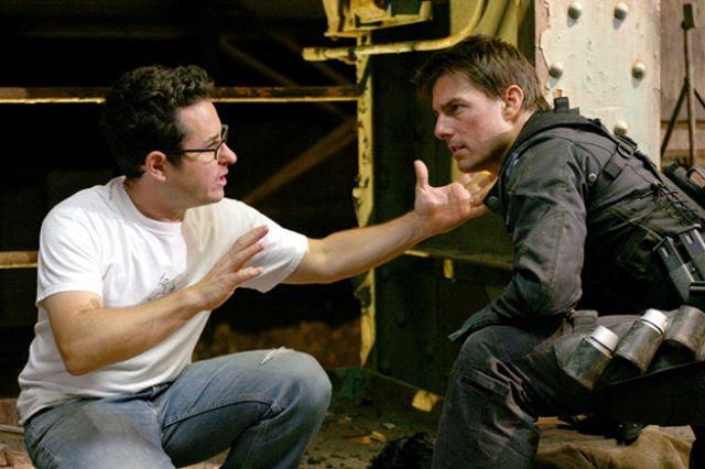إبرامز مع كروز خلال تصوير Mission: Impossible III