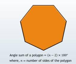 sum of all interior angles, angle sum, exterior angle, adjacent angles, sum of the exterior angles