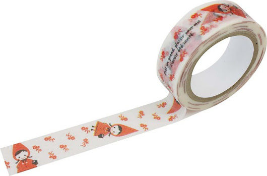 Shinzi Katoh Red Hood Pudding Washi Tape