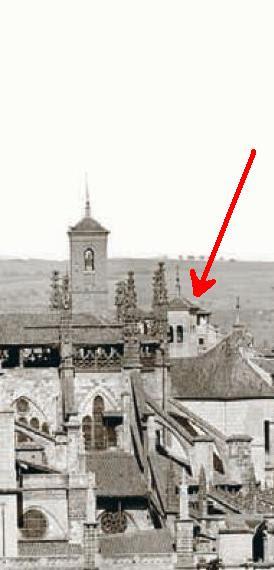 Torre desconocida. Detalle de una fotografía de 1872 tomada desde el Valle por Jean Laurent.
