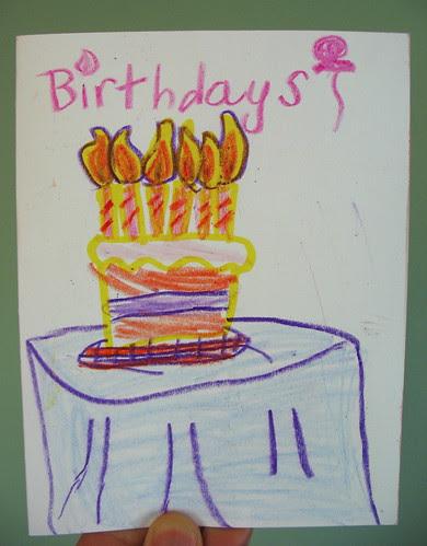 Ava Thursday: Pap Paw's Birthday Card