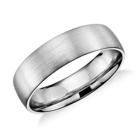 Matte Classic Wedding Ring in Platinum (6mm)   Blue Nile
