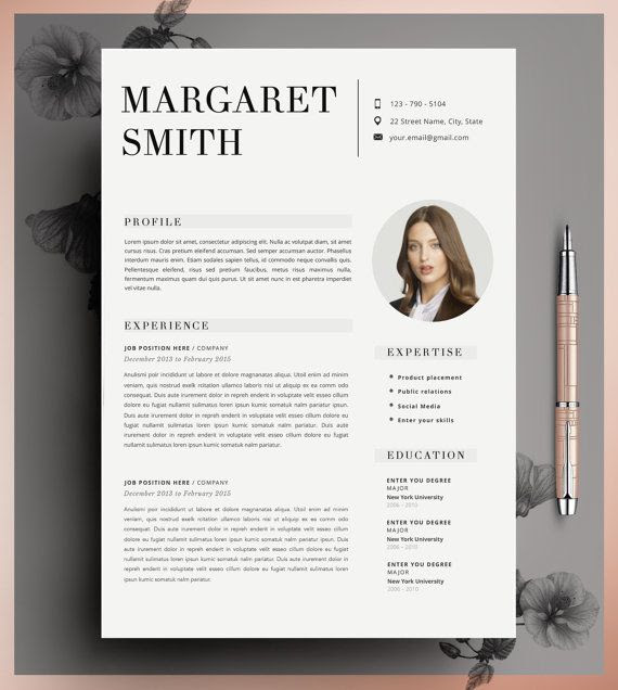 Resume Template, CV Template Editable in MS Word and Pages ...