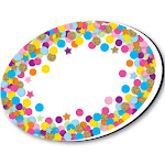 Whiteboard Eraser Confetti Oval Magnetic - Ashley Productions