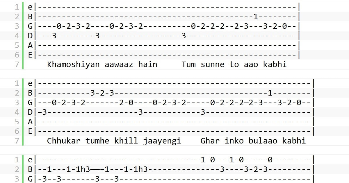 Music Instrument Hindi Songs Guitar Tabs For Beginners Latest and old hindi, english songs guitar tab, chord, piano notes and lessons. hindi songs guitar tabs for beginners