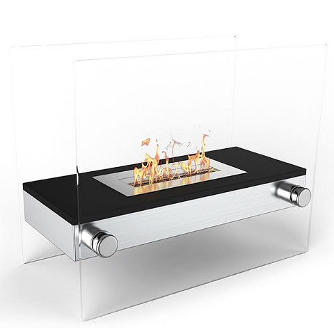 Moda Flame Palermo H Indoor Outdoor Firepit Bio Ethanol Fireplace Black