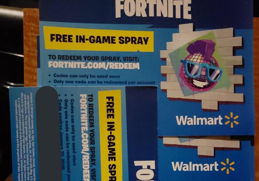 Walmart Free Fortnite Spray Codes | Do U Get V Bucks From