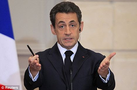Big spender: France's President Nicolas Sarkozy, who uses a £215million jet to travel the world